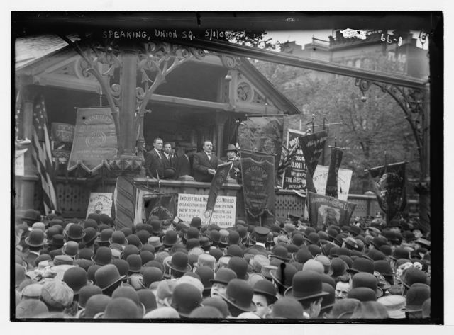 Speakers at Socialist meeting in Union Sq., New York