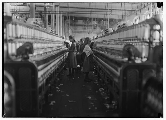 Spinners & doffers in Mollahan Mills, Newberry, S.C. Many others as small. Dec. 3/08. Sara R. Hine, Witness.  Location: Newberry, South Carolina / Photo by Lewis W. Hine.
