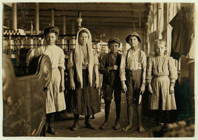 Spinners and doffers, Lancaster Cotton Mills, S.C. Dozens of them in this mill.  Location: Lancaster, South Carolina.