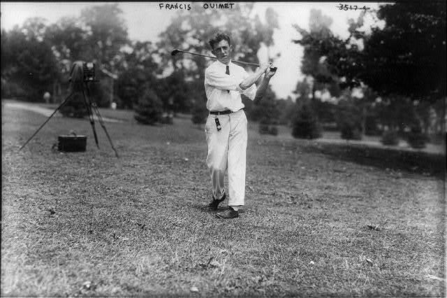 Sports - Golf - Francis Ouimet [swinging golf club]