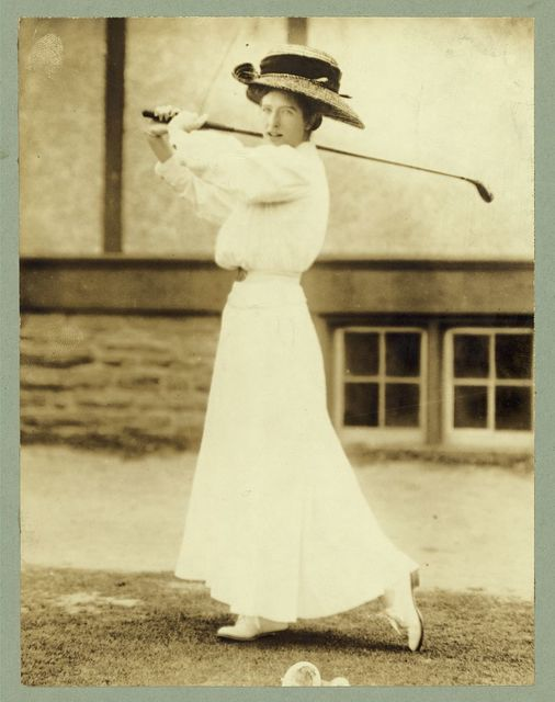 Sports - Golf - Miss Katharine Harley, former champion of the U.S. won at Chevy Chase, 1908