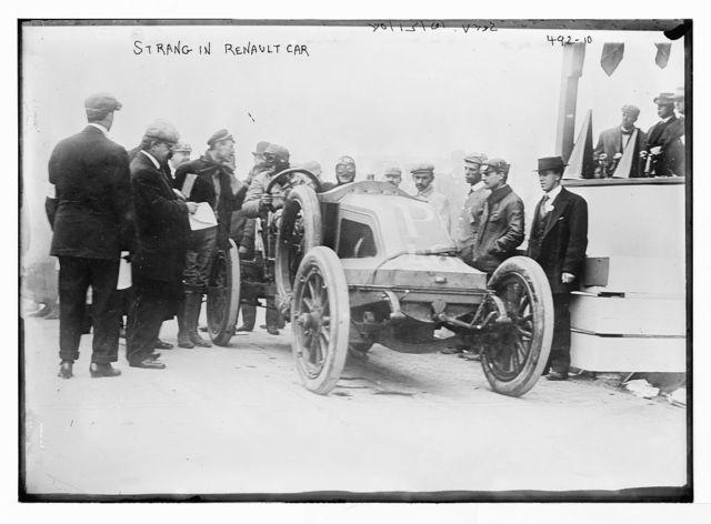 Strang, in Renault car