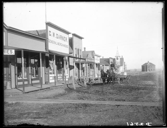 Street scene, Overton, Nebraska.