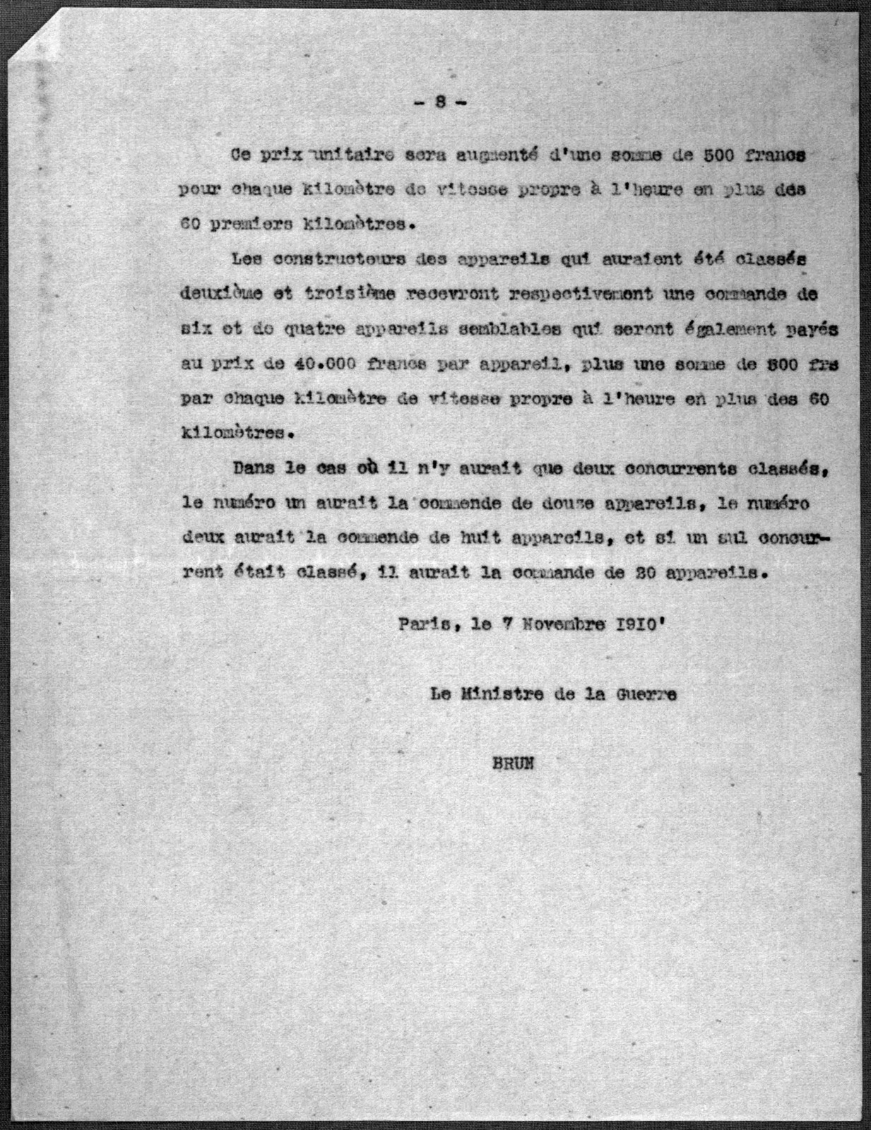 Subject File:  Foreign Business--Countries--France--Negotiations with Government, 1908-1909