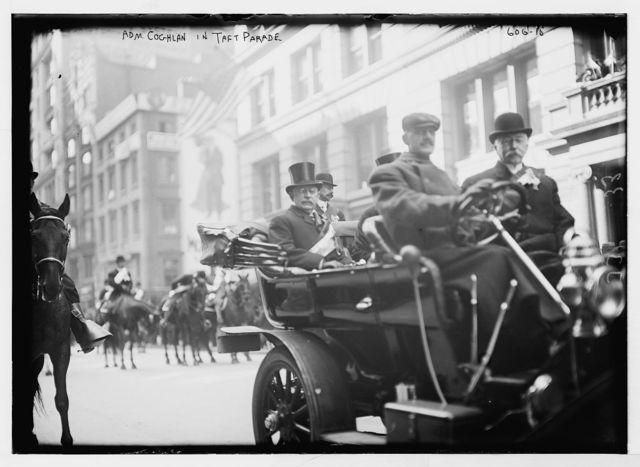 Taft Parade, Adm. Coghlan in auto, New York
