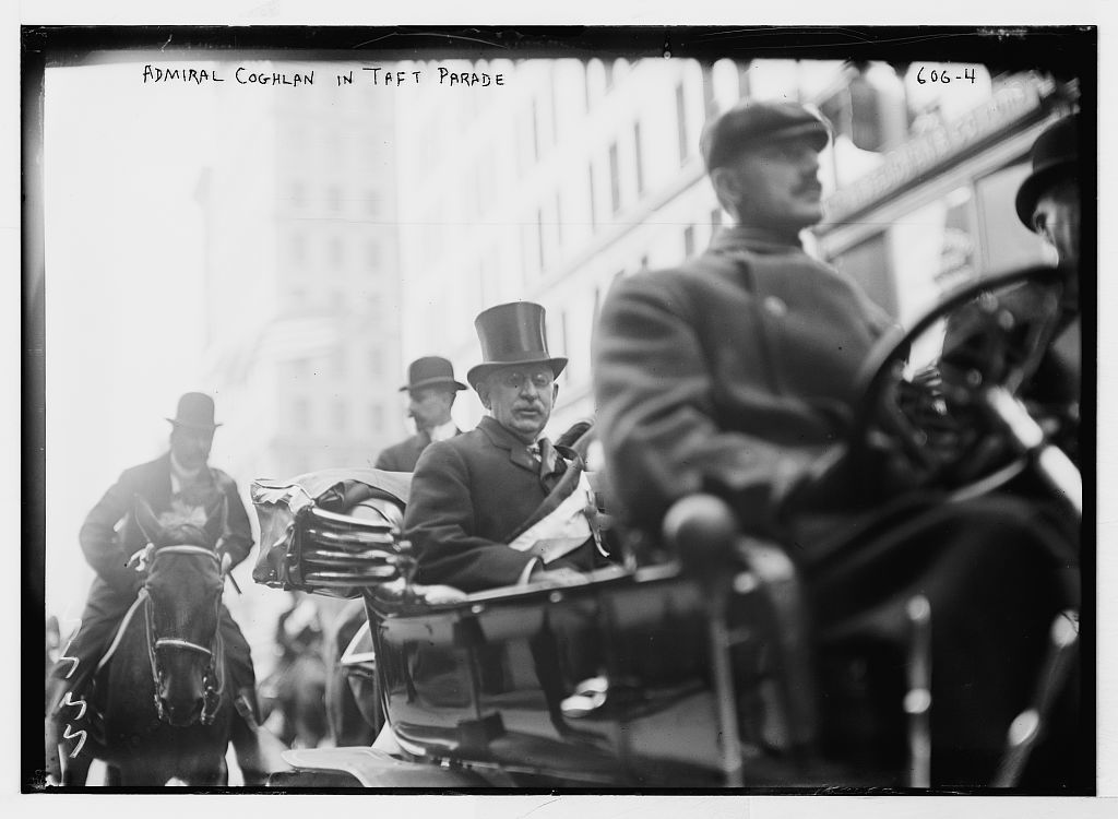 Taft Parade, Admiral Coghlan in auto, New York