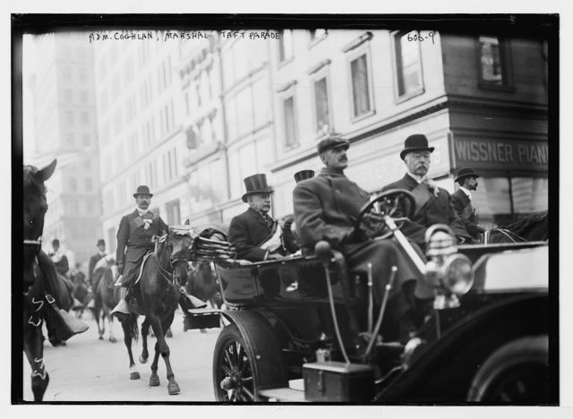 Taft Parade, Admiral Coghlan, Marshal in auto, New York