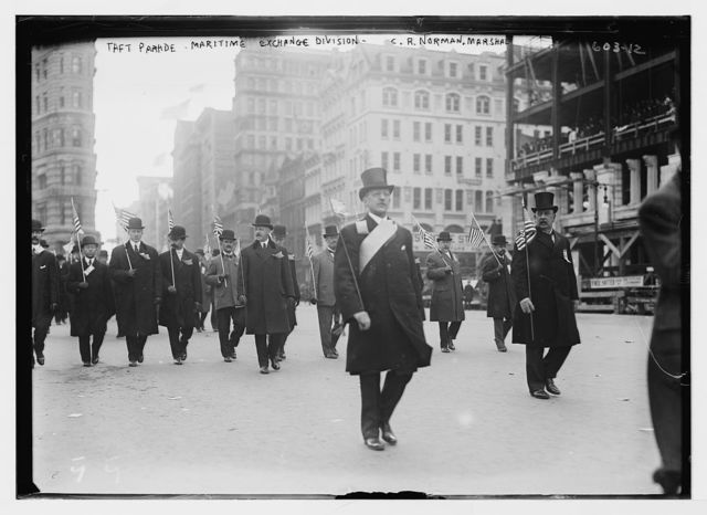 Taft parade, Maritime Exchange Div., C.R. Norman, Marshal, New York
