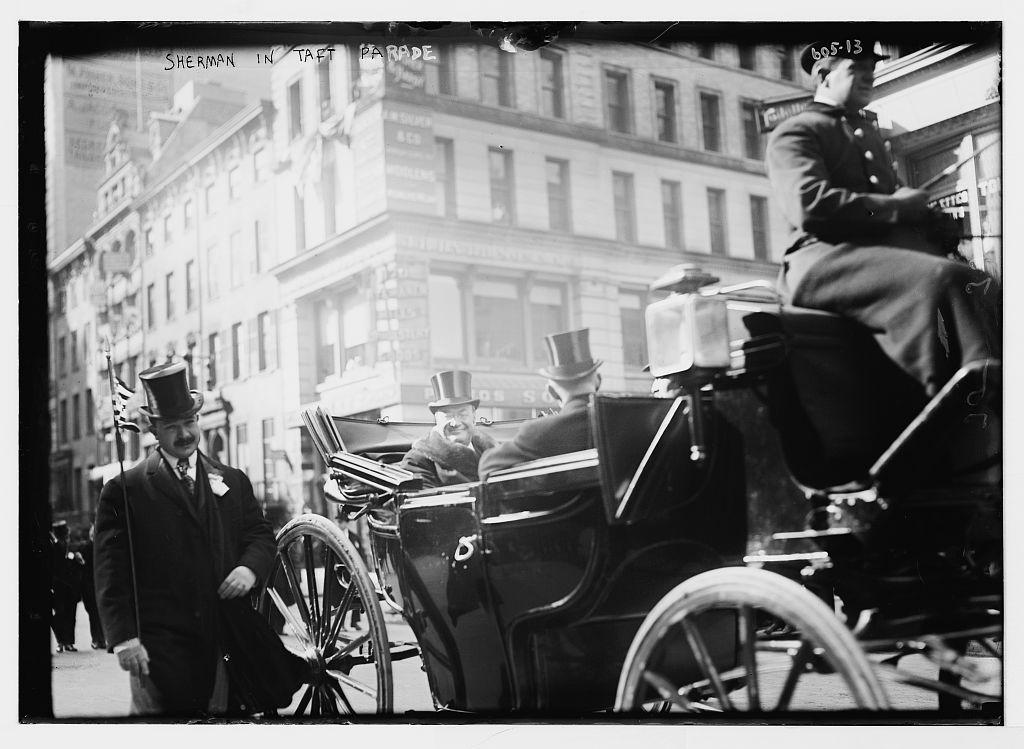 Taft Parade, Sherman in carriage, New York