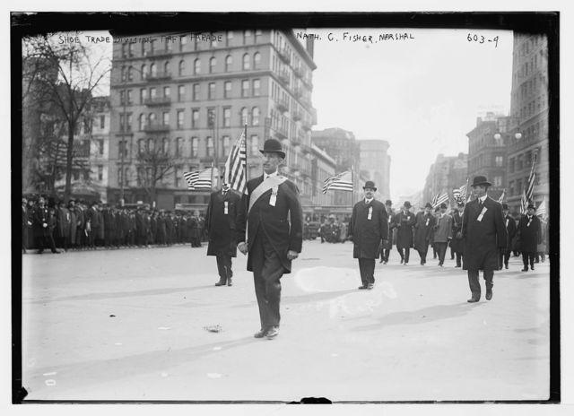 Taft parade, Shoe trade Div., Nathan C. Fisher, Marshall, New York