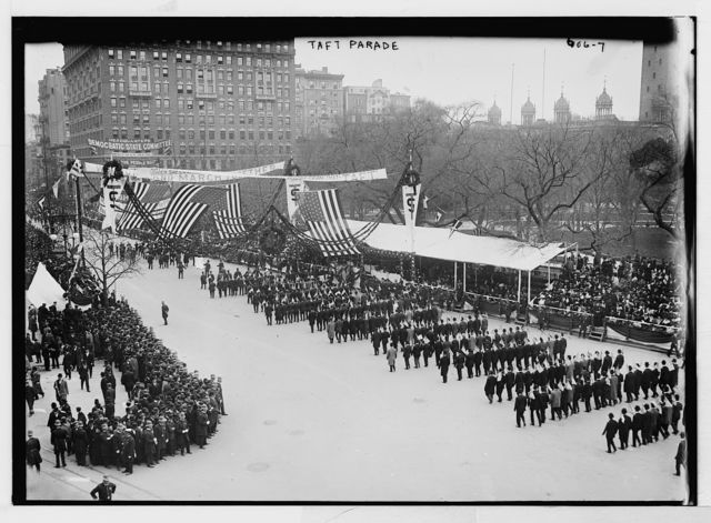 Taft Parade, spectators and marchers, New York