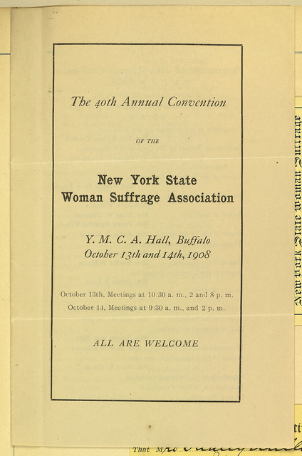 The 40th Annual Convention of the New York State Woman Suffrage Association
