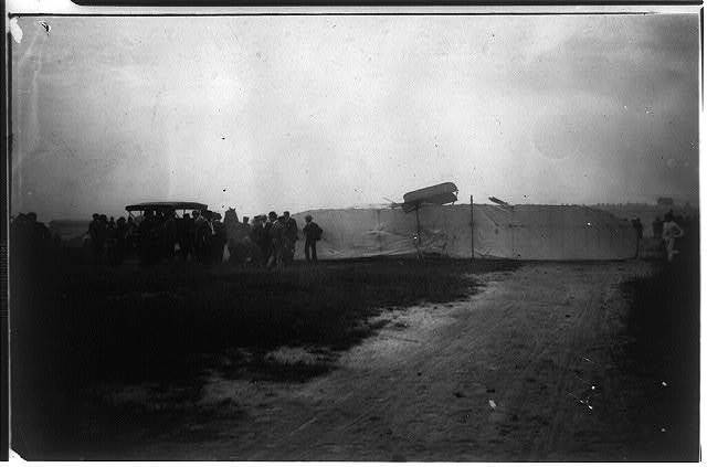 The broken propellor, the cause of the Fort Myer tragedy