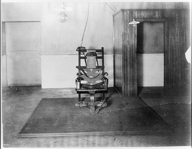 The electric chair in Auburn State Prison