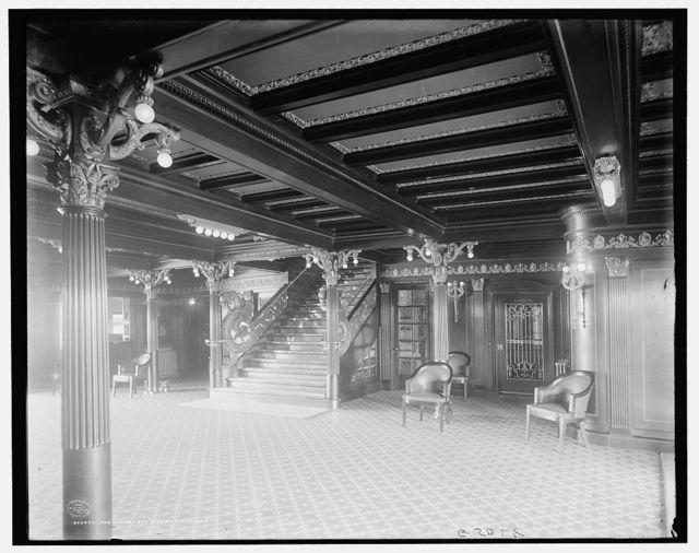 The Lobby, Str. City of Cleveland, [Detroit & Cleveland Navigation Co.]