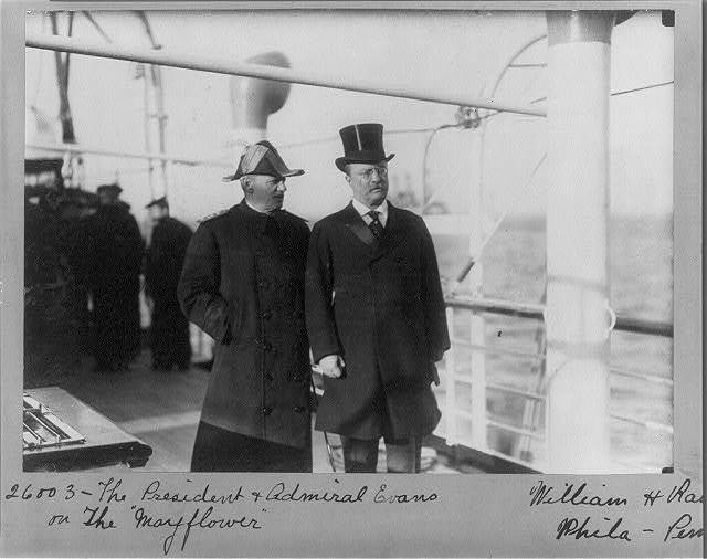 "The President & Admiral Evans on the ""Mayflower"" / William H. Rau, Phila., Penna."