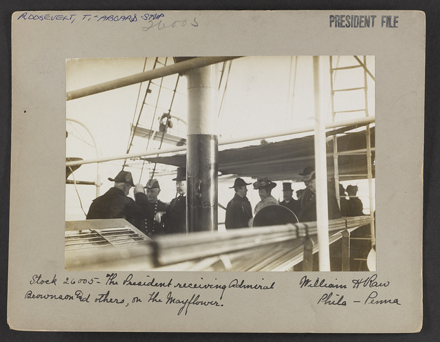 The President receiving Admiral Brown and others, on the Mayflower / William H. Rau, Phila-Penna.
