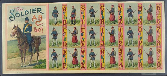 The soldier abc blocks