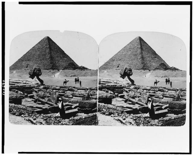 The Sphinx, pyramid, and temple of Khufu, Egypt