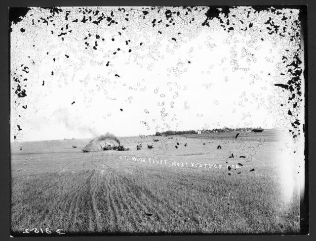 Threshing on farm of Lou Deits, on  the Wood River near Kearney, Nebraska.