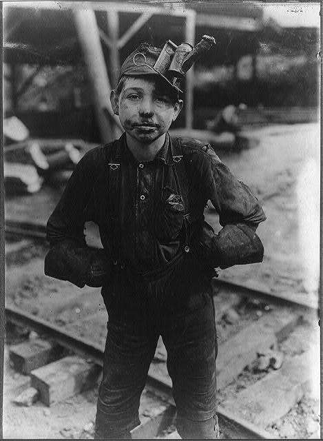 Tipple Boy, (see Photo 150) Turkey Knob Mine, Macdonald, W. Va. Witness E. N. Clopper.  Location: MacDonald, West Virginia.