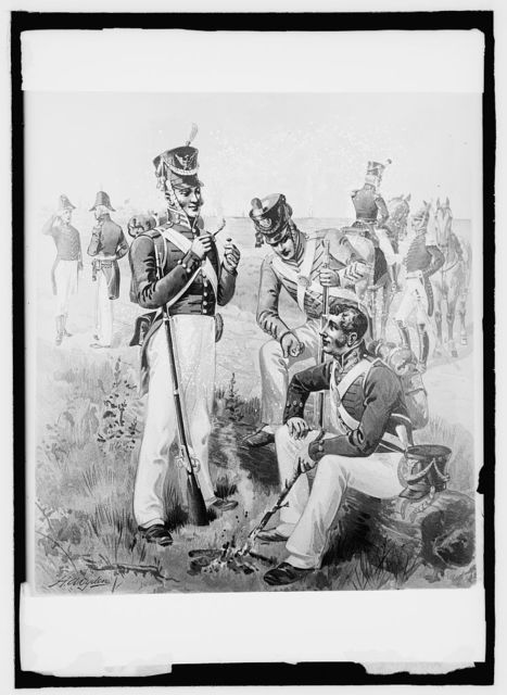 U.S. Army uniform, 1813-21, Artillery, [...] rifle, [...], cadets