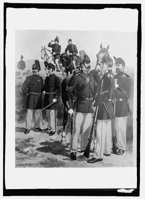 U.S. Army uniform, 1872-81, Ofc., enlisted men, cav., art., [...]