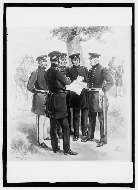 U.S. Army uniforms, 1844-50, Maj. Gen'l, staff, & line officer undress