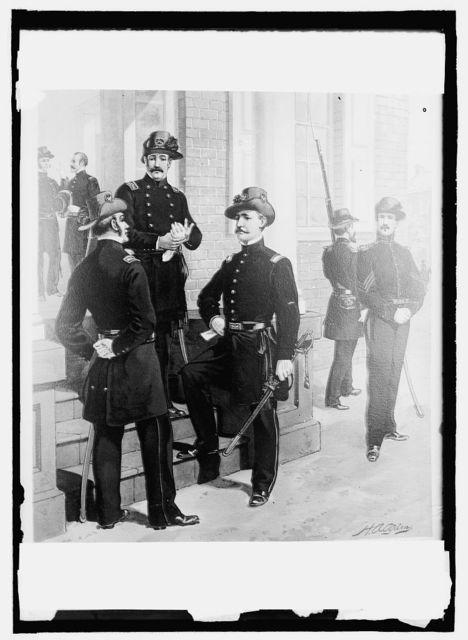 U.S. Army uniforms, 1850-61, staff, line officer, enlisted men