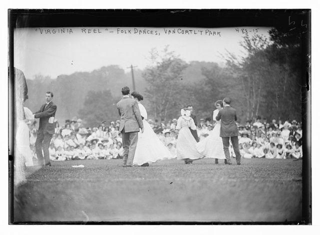 """""""Virginia Reel"""" folk dances, Van Cort't Park [Van Cortlandt Park, New York]"""