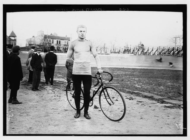 Vistor Dupre of France, with bicycle