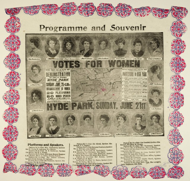 Votes for Women, Programme and souvenir, Hyde Park Demonstration, London,