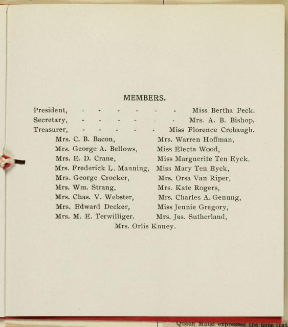 Waterloo Civics Club, Year Book. 1908-1909