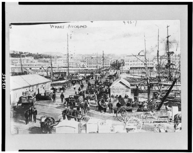 Wharf in Auckland, New Zealand, Aug. 11, 1908