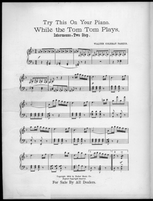 While the tom-tom plays