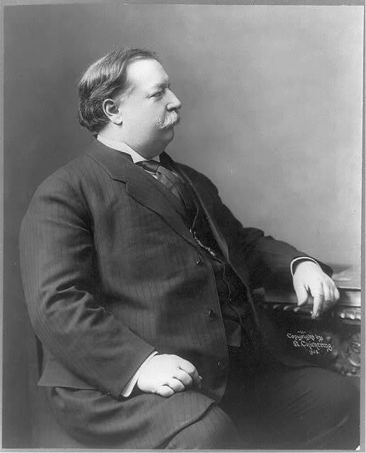 [William Howard Taft, three-quarters length, half-right profile]
