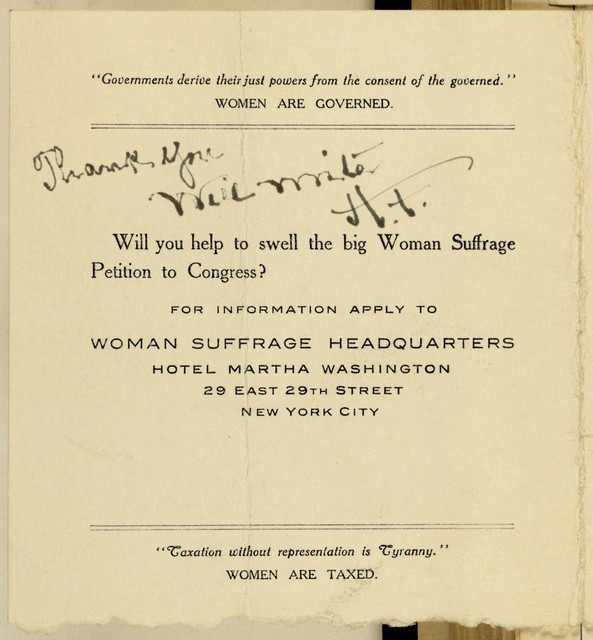 Woman Suffrage Mass Meeting, Carnegie Hall Interurban Woman Suffrage Council