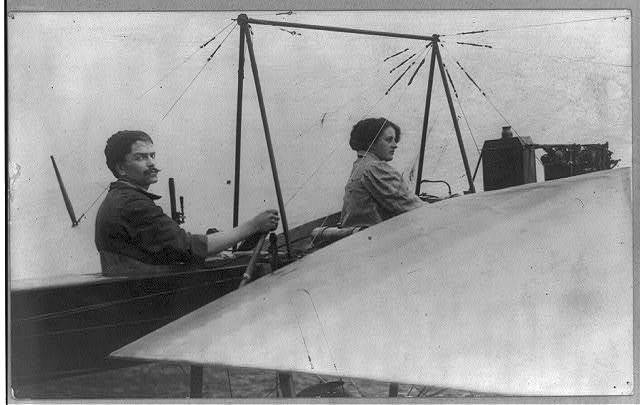 Women in airplanes: Mr. & Mrs. Wagner