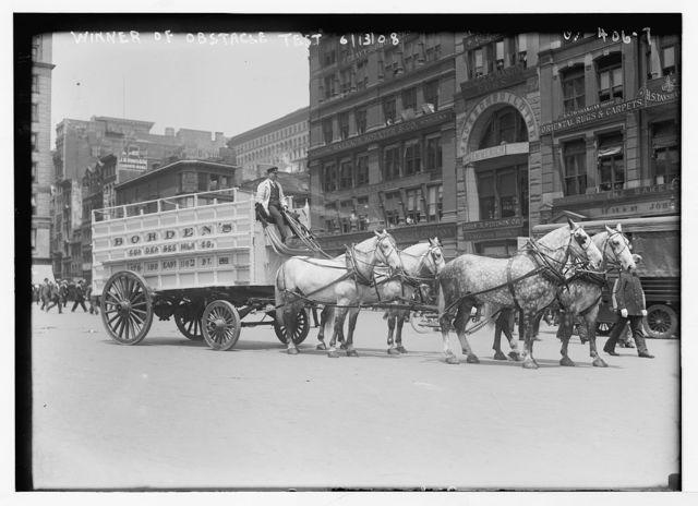 [Work Horse Parade, Borden team], winner of obstacle test, [New York]