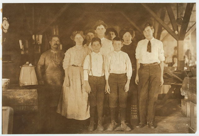 """A few of the workers. P. San Martin Cigar Co. Tampa, Fla. Has reputation of employing children that have been through """"School Factories"""" and not paying them anything. Not rushed, so, only few children.  Location: Tampa, Florida."""