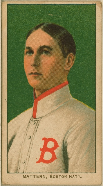 [Al Mattern, Boston Doves/Boston Rustlers, baseball card portrait]