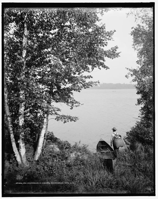 An Adirondack carry, Adirondack Mts., N.Y.
