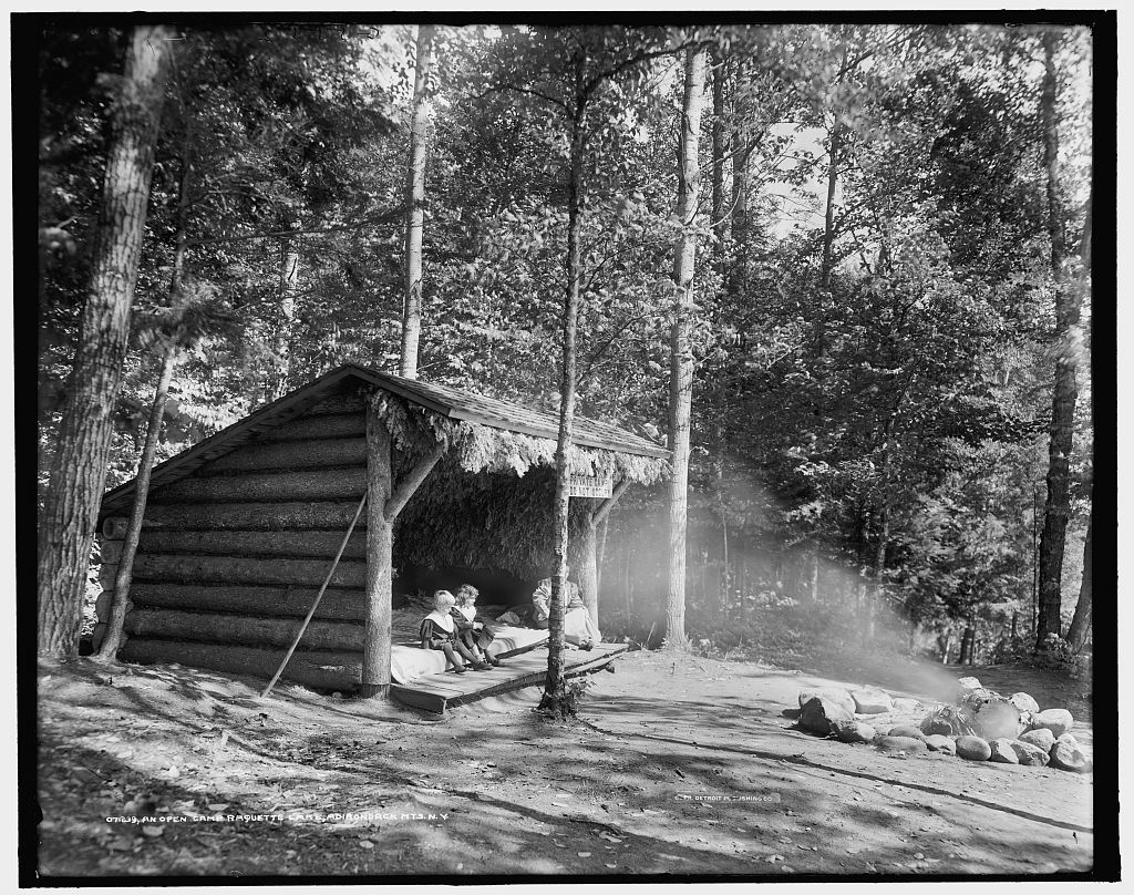 An Open camp, Raquette Lake, Adirondack Mts., N.Y.
