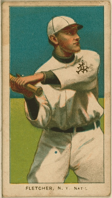 [Art Fletcher, New York Giants, baseball card portrait]