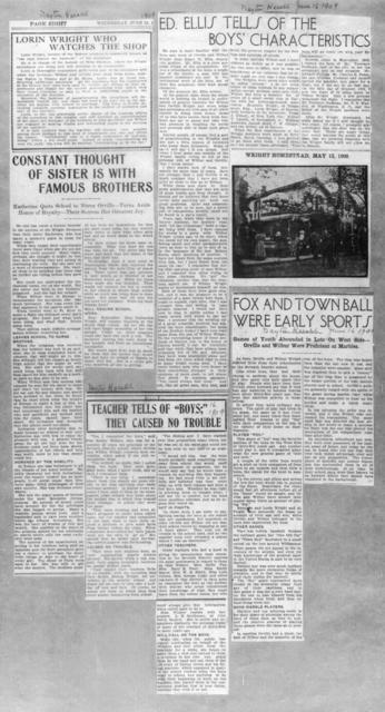 [Articles from Dayton Herald, 16 June 1909]