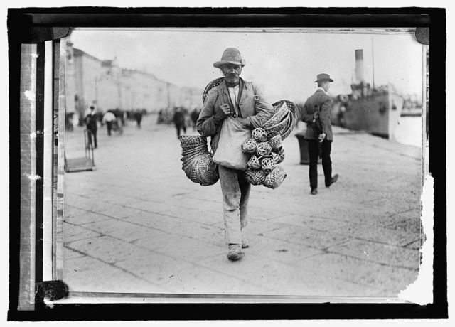 Austria. Slovak peddler, Triest