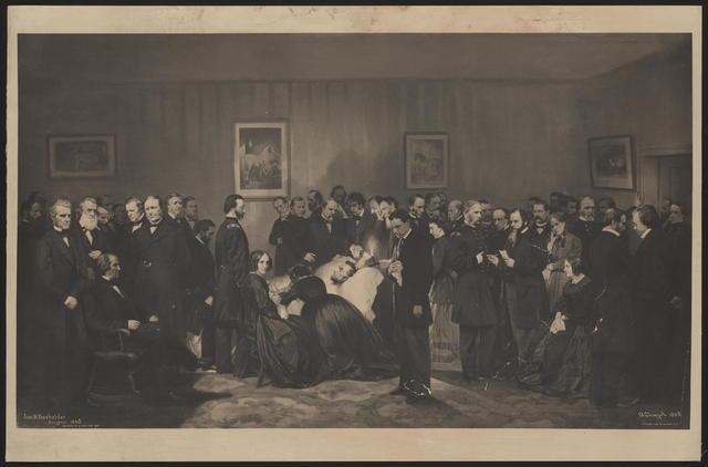 [Bachelder, Alonzo & David Print of Lincoln's deathbed.]