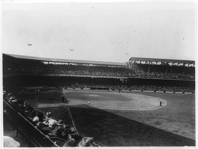 [Baseball game at old Griffith Stadium, Washington, D.C.]