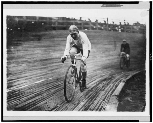[Bicycle riders--Walthour in 6-day race]