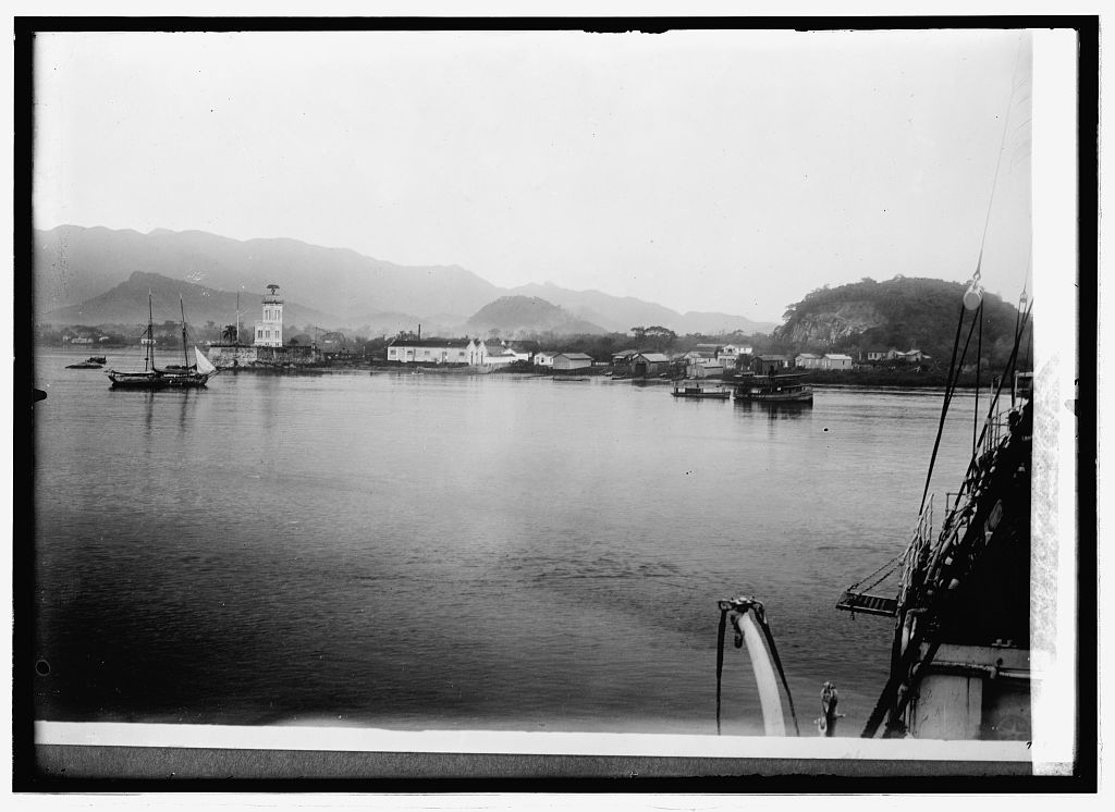 Brazil. Harbor at Santos from which [...] of copper are shipped
